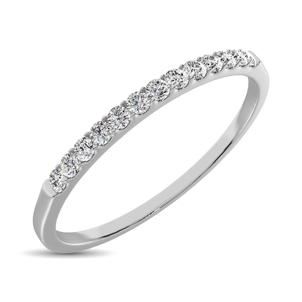 G-H,I2-I3 Diamond Wedding Band in 14K White Gold Size-6.75 1//10 cttw,